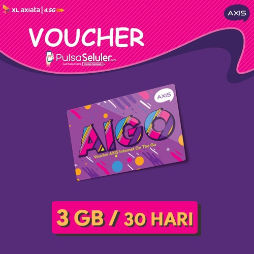 Paket Internet Voucher AXIS AIGO - 3GB 24 JAM 30 Hari